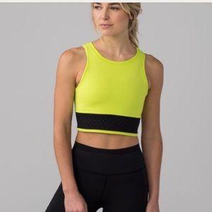 Lululemon neon mesh crop top
